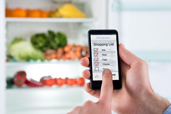 Список покупок на смартфоне